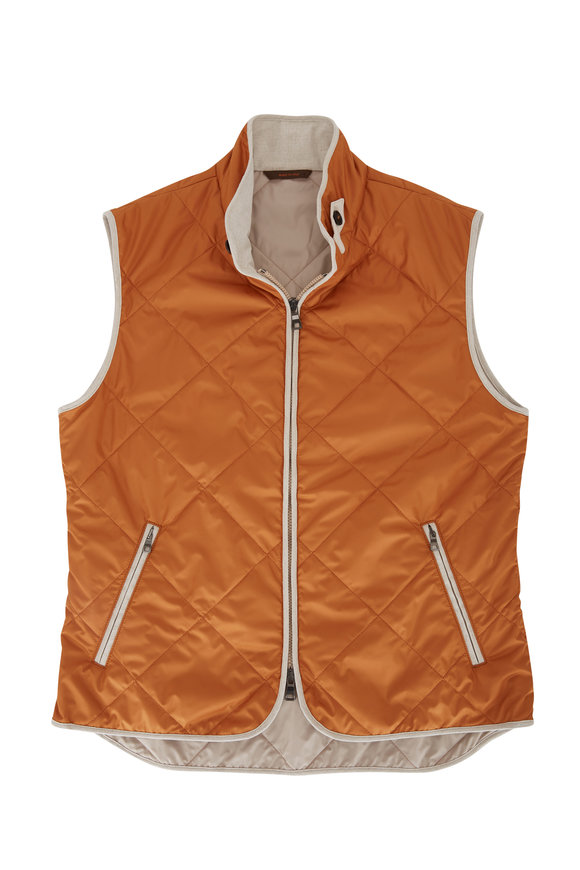 Waterville Orange Quilted Vest