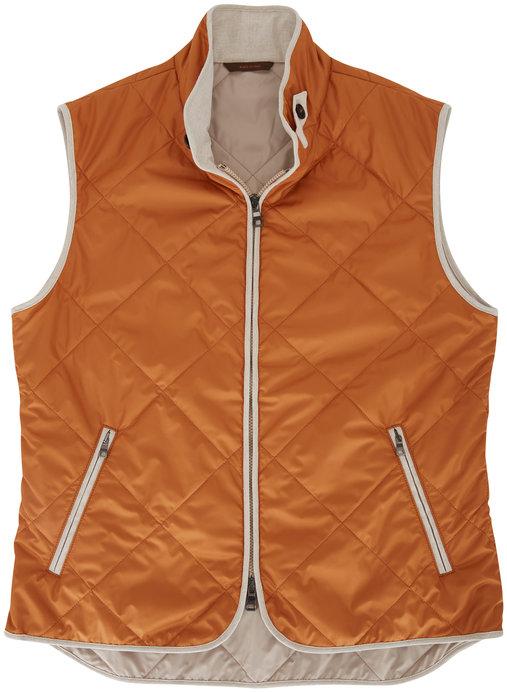 Waterville Orange Quilted Vest