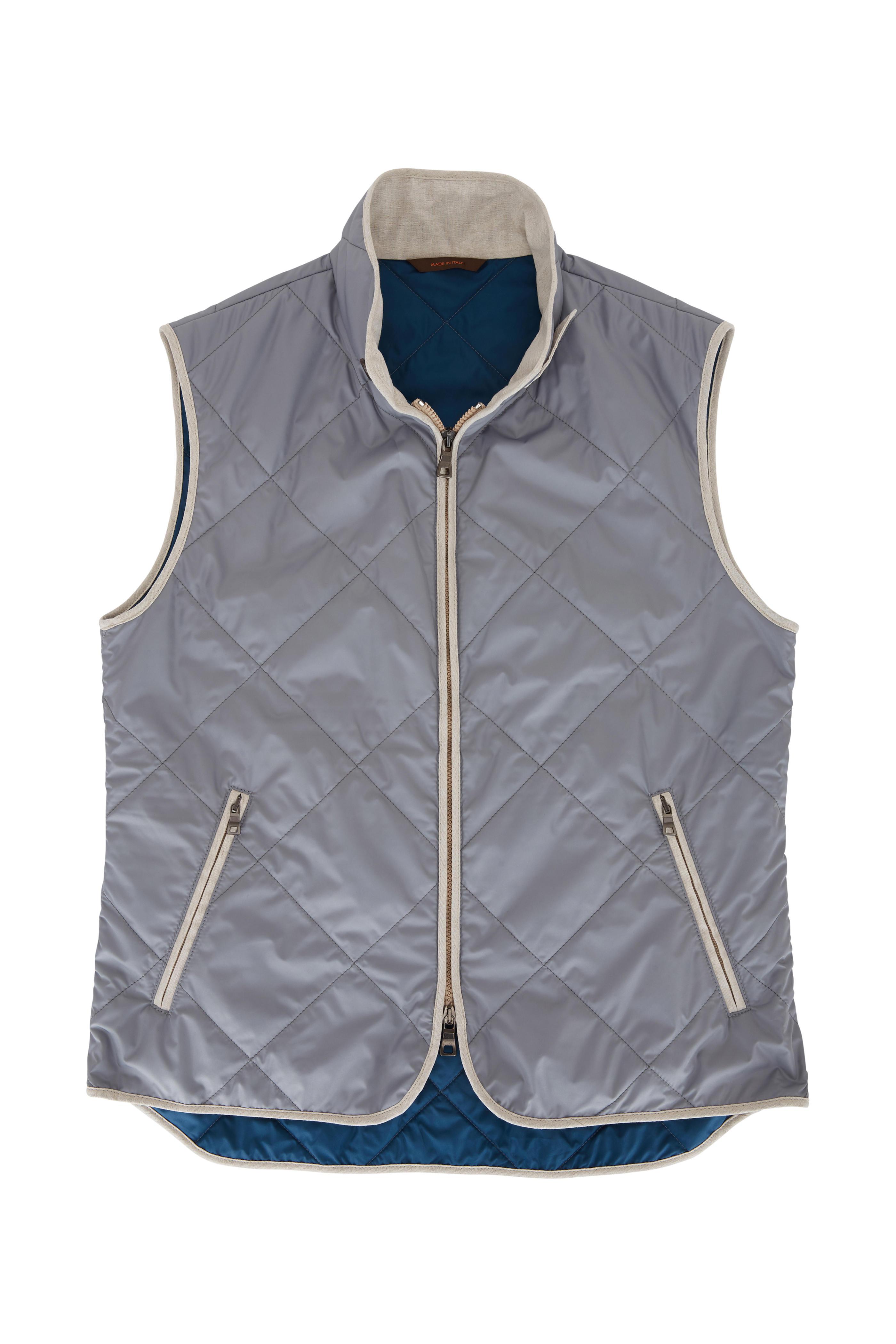 black waterville box quilt vest