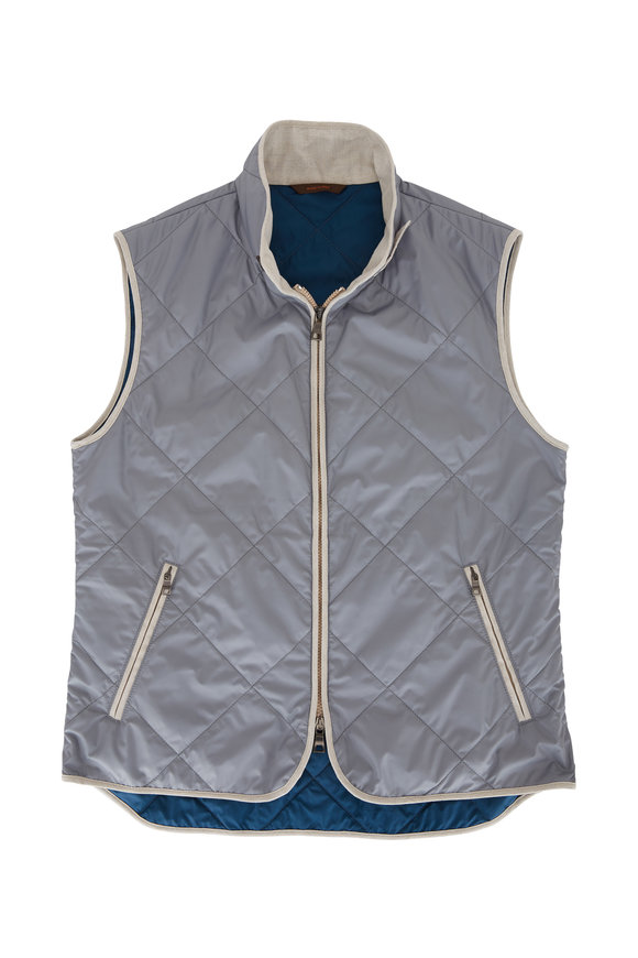 Waterville Light Gray Quilted Vest
