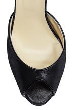 Sarah Flint - Alexis Black Shimmer Suede Sandal, 85mm