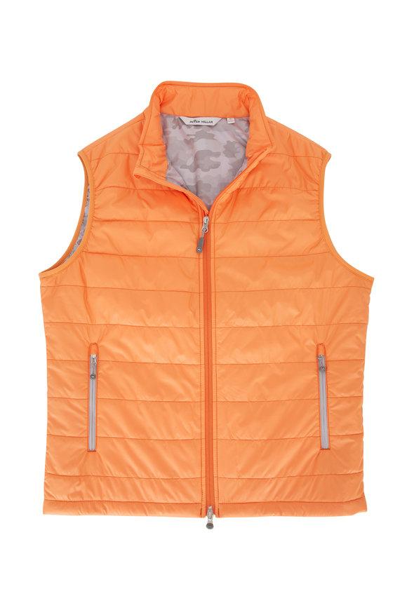 Peter Millar Orange Hyperlight Front Zip Vest