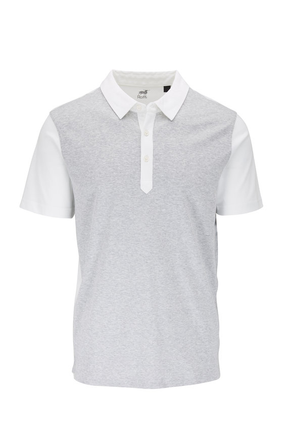 Raffi  White & Gray Colorblock Polo