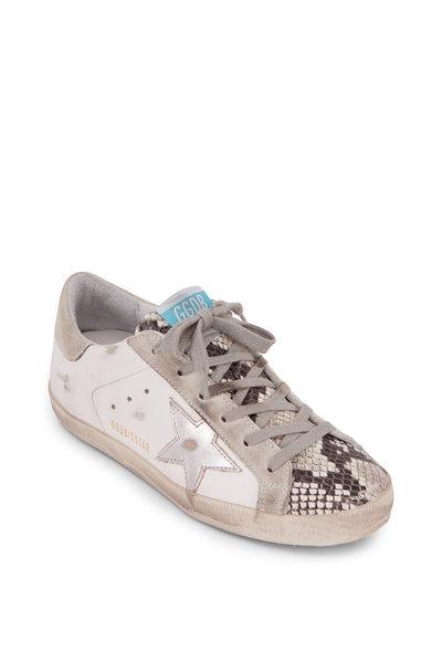 Golden Goose - Superstar White Leather & Python Sneaker