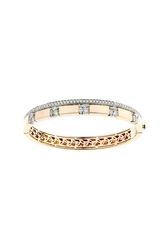 Yeprem 18K Rose Gold Diamond Bangle