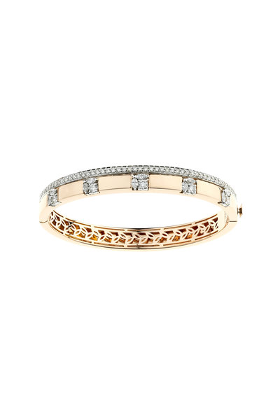 Yeprem - 18K Rose Gold Diamond Bangle