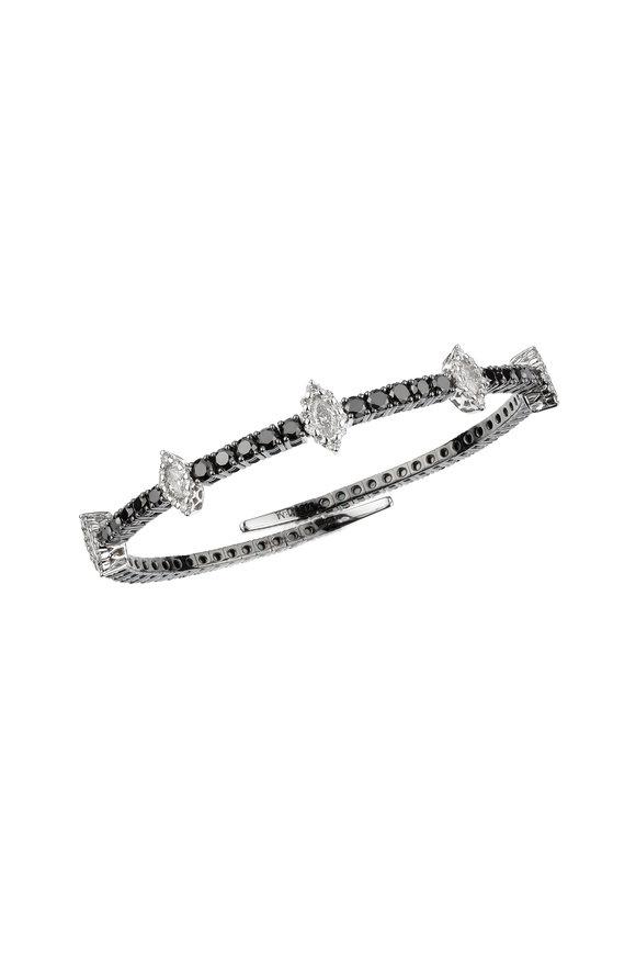 Yeprem 18K White Gold Black & White Diamond Bracelet