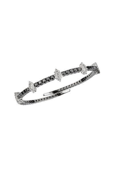 Yeprem - 18K White Gold Black & White Diamond Bracelet