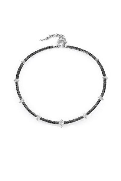 Yeprem - 18K White Gold Black & White Diamond Choker