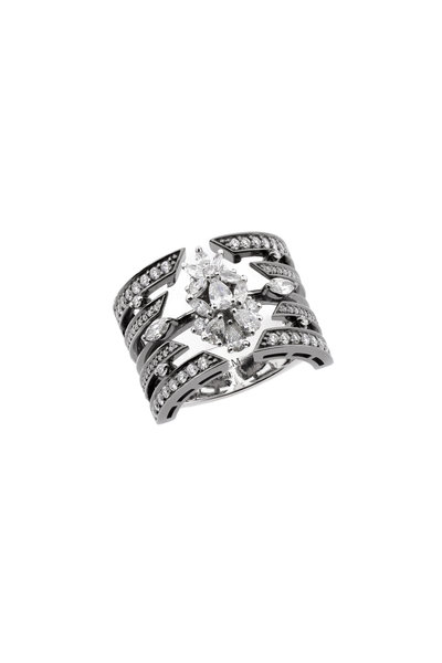 Yeprem - 18K White Gold Diamond Cage Ring
