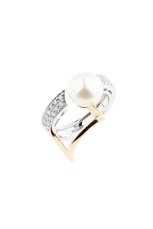 Yeprem 18K White & Rose Gold Pearl Ring