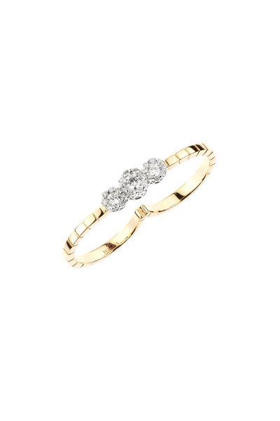Yeprem - 18K Rose Gold Diamond Double Finger Ring