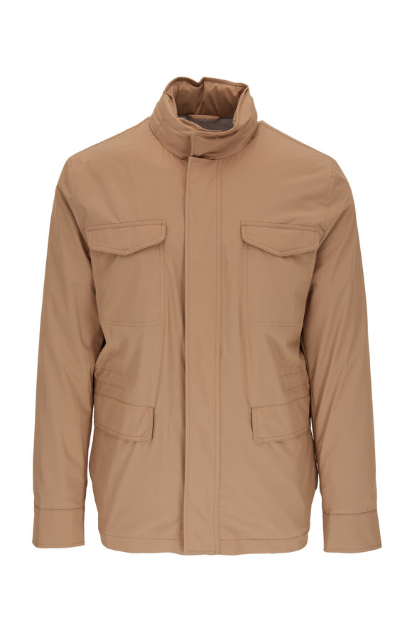 Peter Millar Tan All-Weather Flex Discovery Jacket