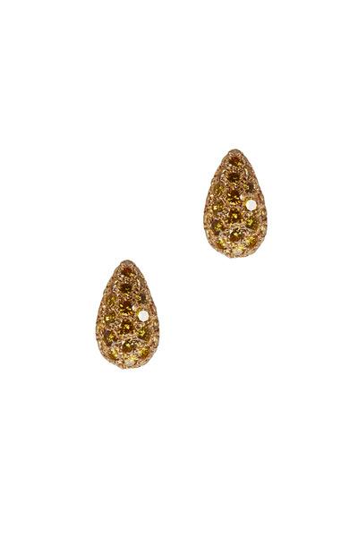 Oscar Heyman - Yellow Gold Fancy Diamond Earrings