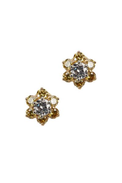 Oscar Heyman - Platinum & Gold Diamond Earrings