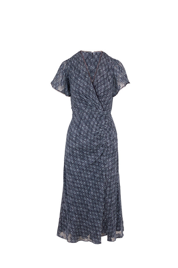 Jonathan Simkhai Lily Midnight Medallion Jacquard Dress