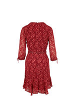 Jonathan Simkhai - Red Currant Three-Quarter Sleeve Dress
