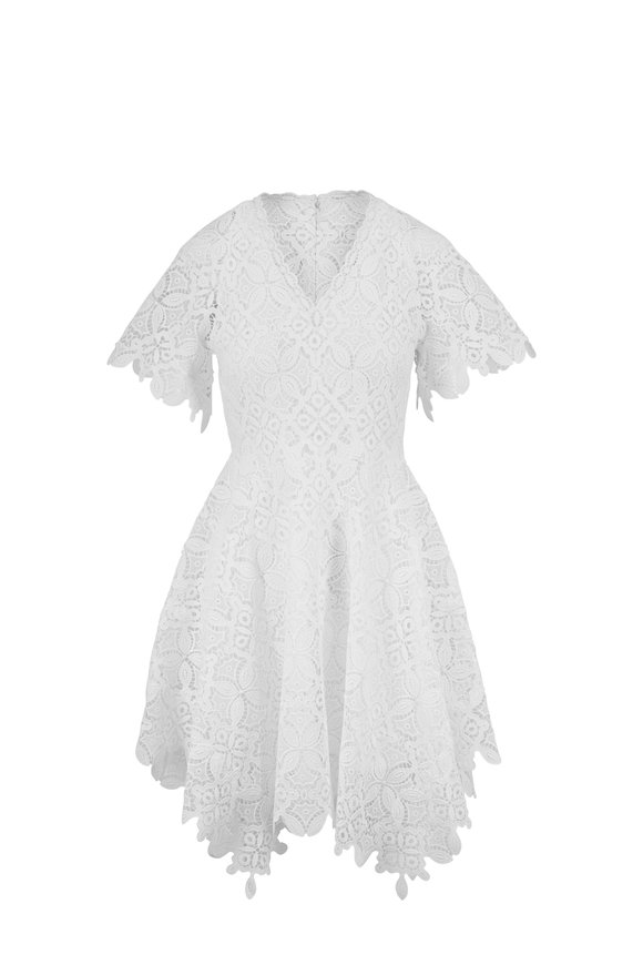 Jonathan Simkhai Amelia White Guipure Lace Mini Dress
