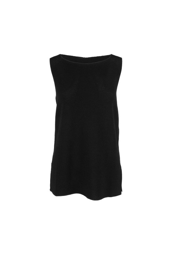 D.Exterior Black Jersey Long Tank Top