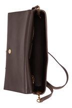 Saint Laurent - Kate Pebble Gray Suede Tassel Shoulder Bag