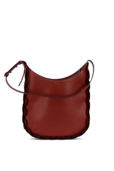 Chloé - Darryl Sepia Grained Leather Medium Hobo Bag