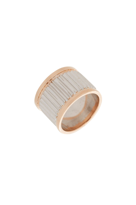 Walters Faith 18K Rose Gold & Silver 15mm Clive Ring