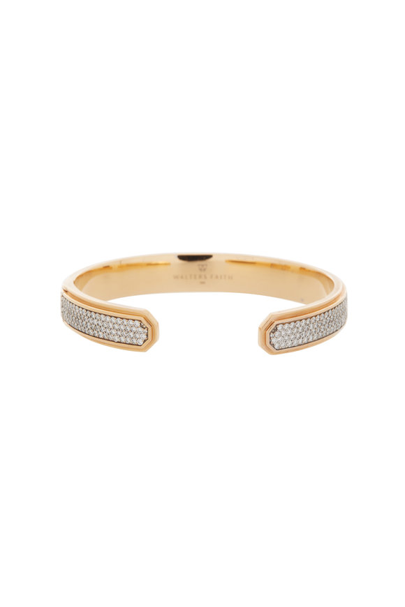 Walters Faith 18K Rose Gold Diamond Carrington Cuff
