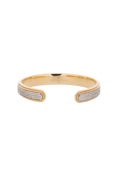 Walters Faith - 18K Rose Gold Diamond Carrington Cuff