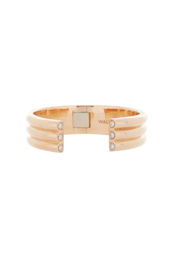 Walters Faith 18K Rose Gold Thoby 3 Row Diamond Tube Cuff