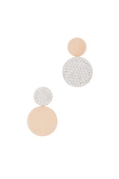 Walters Faith - 18K Rose Gold Lytton Mismatch Disc Earrings
