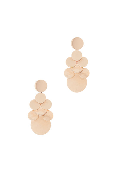 Walters Faith - 18K Rose Gold Lytton 8 Disc Drop Earrings