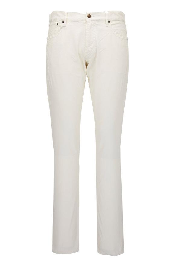 Ralph Lauren Cream Five Pocket Jean