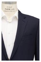 Ermenegildo Zegna - Navy Blue Dark Tonal Striped Wool & Silk Suit