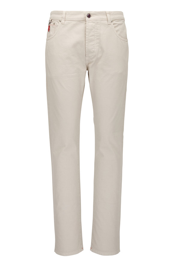 Isaia Taupe Five Pocket Pant