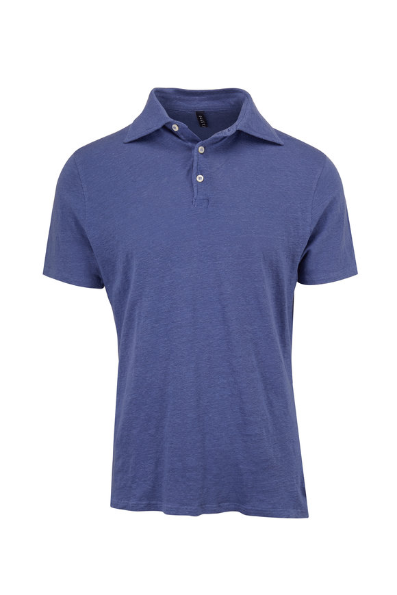 04651/ Deep Blue Linen Polo
