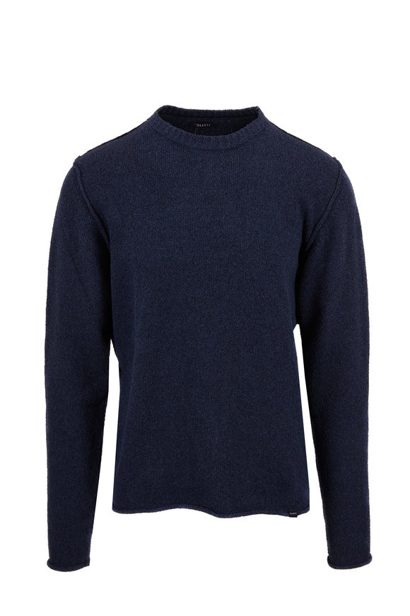 04651/ Navy Blue Easy Crewneck Sweater