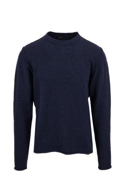 04651/ - Navy Blue Easy Crewneck Sweater