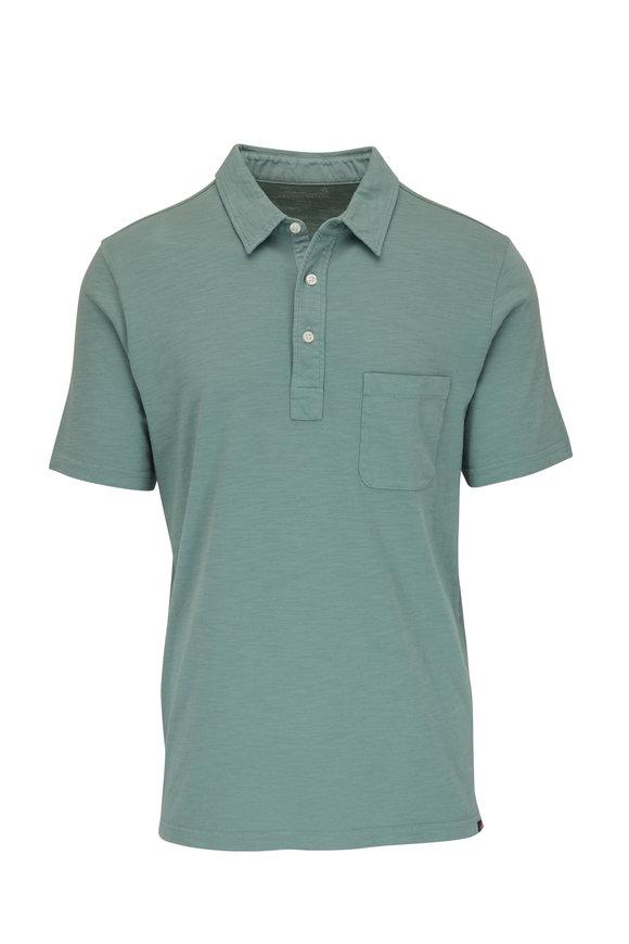 Faherty Brand Jade Sunwashed Pocket Polo