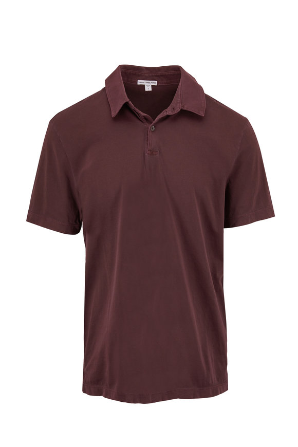 James Perse Aubergine Jersey Polo