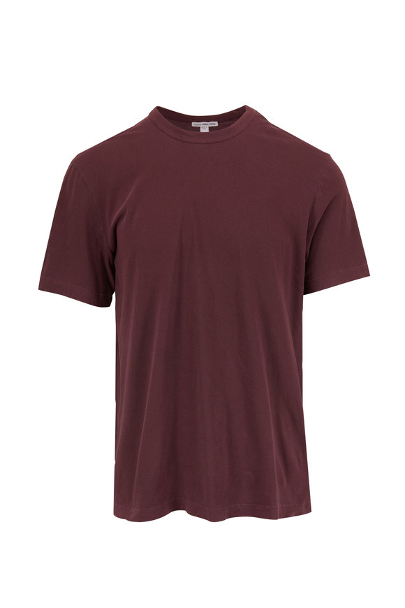 James Perse Aubergine Soft Cotton T-Shirt