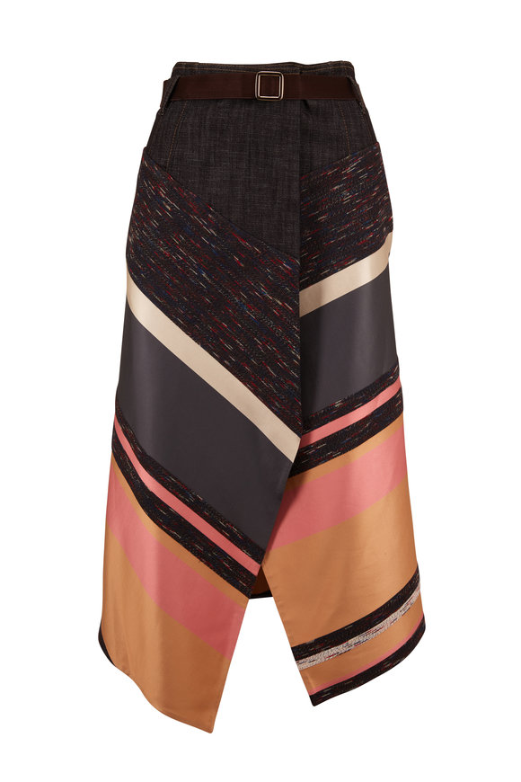 Dorothee Schumacher Carnation Article Energetic Lines Wrap Skirt