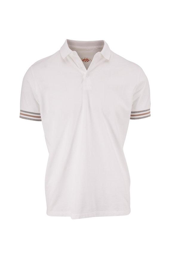 Fradi White Contrast Trim Polo