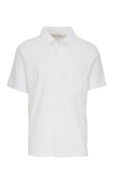 Faherty Brand - Sunwashed Solid White Polo