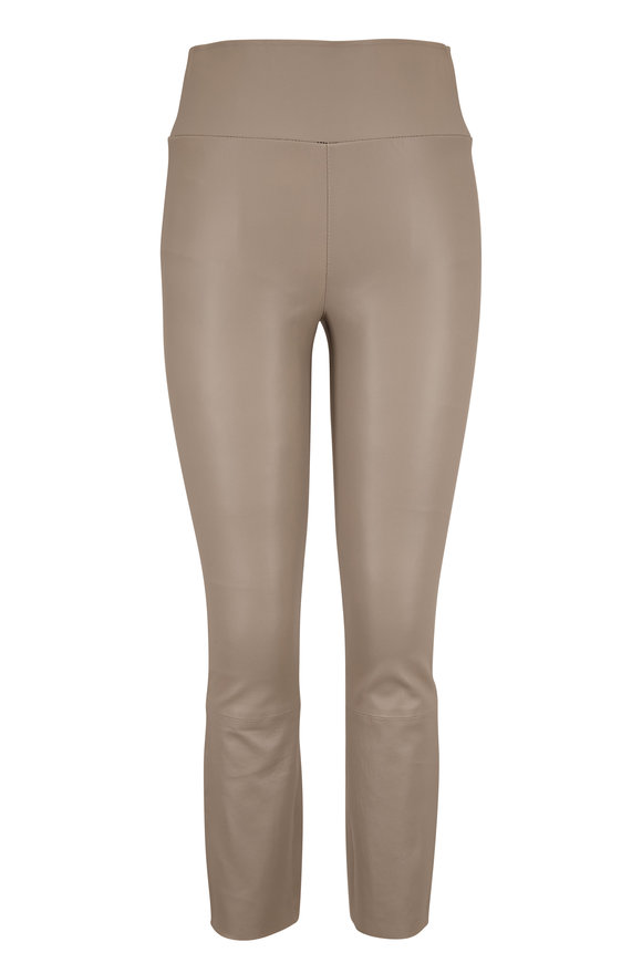 SPRWMN LLC Stone Leather Crop Legging