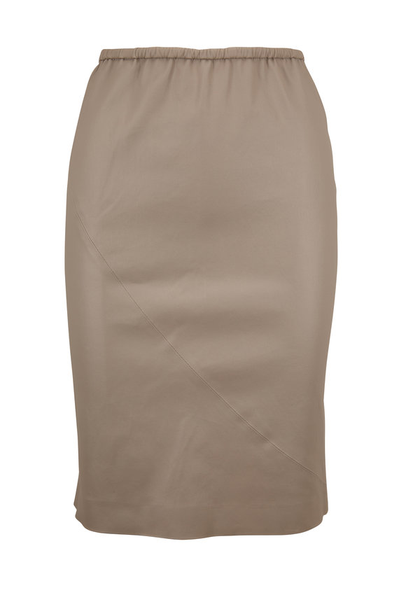 SPRWMN LLC Stone Leather Slip Skirt