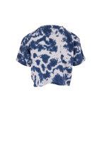 Mother Denim - Ultramarine Slouch Tie-Dye Cropped Tee