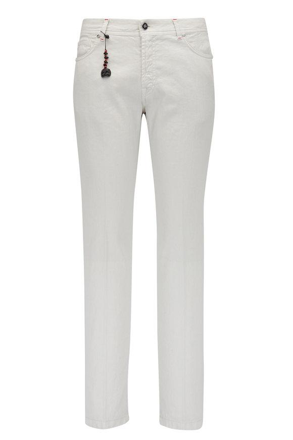 Marco Pescarolo Stone Cotton & Linen Five Pocket Pant