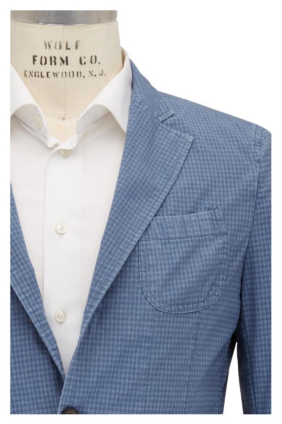 Fradi Blue Tonal Gingham Jacket