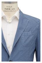 Fradi - Blue Tonal Gingham Jacket