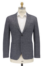 Fradi - Gray & Navy Melange Cotton & Linen Jacket
